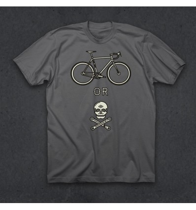 "Twin Six T-Shirt ""Bike or Die T"" (ASPHALT)"