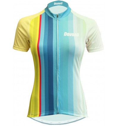"Davanti bikewear womens Cycling Jersey ""Jamie"" Blue-Yellow"
