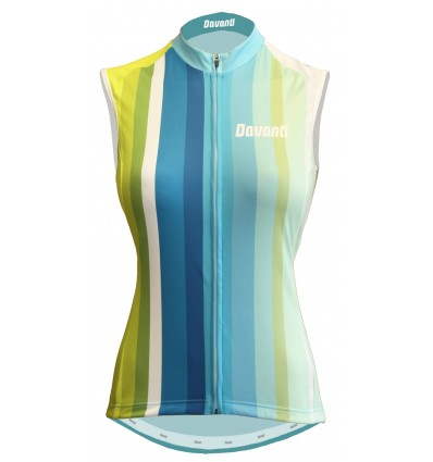 "Davanti bikewear womens Cycling Sleeveless Jersey ""Jamie"" Blue-Yellow"