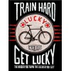 "Cycology Gear T-shirt ""Train Hard Get Lucky"" (Zwart)"