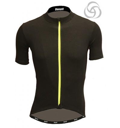 "Davanti bikewear heren fietsshirt ""Merlin"" shirt van een Merinowol mix"