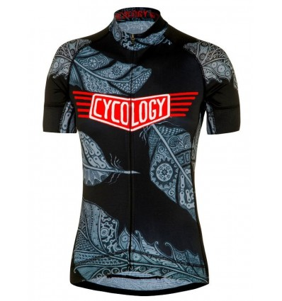 "Cycology Gear women's cycling Jersey ""Three Feathers"""