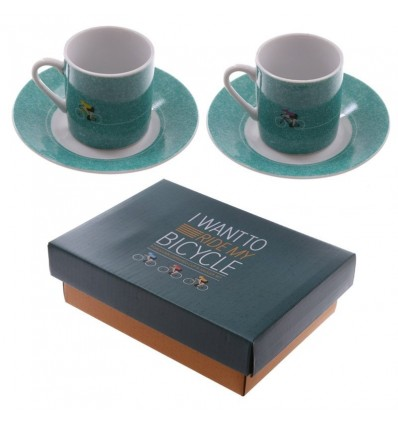 set espresso cups I want to ride my Bicycle