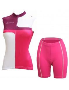 Set mouwloos shirt Cleo short Thelma Davanti Bikewear