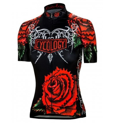 "Cycology Gear women's cycling Jersey ""Black Rose"""