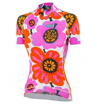 "Cycology Gear women's cycling Jersey ""Pedal Flower"""