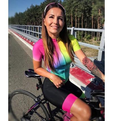 "Trofeo Damen Radtrikot ""Gradient joy"""