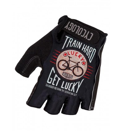 "Cycology Cycling Gloves ""Train Hard Get Lucky"""