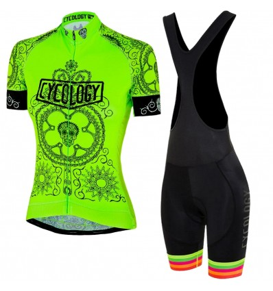"Cycology Damen Rad Set ""Day Of The Living"" Lime"