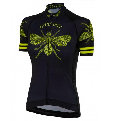 "Cycology Gear women's cycling Jersey ""Queen Bee"" Black"