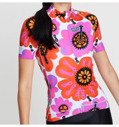 "Cycology Gear women's cycling Jersey ""Pedal Flower"""