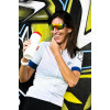 """8and Counting Womens Cycling Jersey """"7even"""" White"""