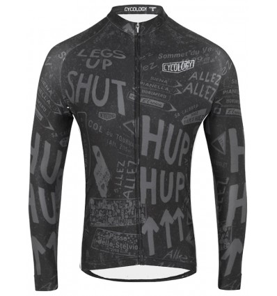 "Cycology Men's long sleeve cycling Jersey ""Allez Allez"""