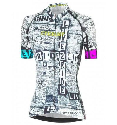"""Cycology women's cycling Jersey """"Live to Ride"""""""