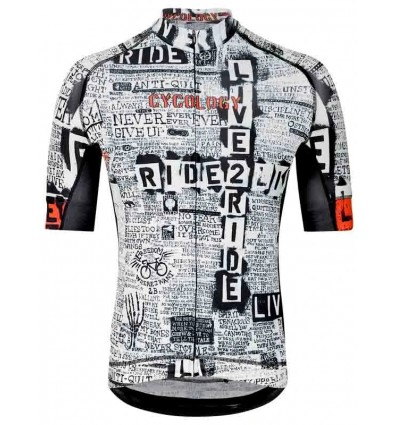 "Cycology men's cycling Jersey ""Live to Ride"""